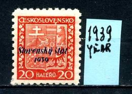 SLOVACCHIA - Year 1939 - Usato - Used - Utilisè - Gebraucht. - Usati