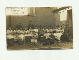 GUERRE 14/18 BEAUVAIS - CP PHOTO - Hopital N° 1 Groupe Epluchant Des Pommes De Terre Animé Bon état - Weltkrieg 1914-18