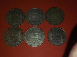 ARGENT 6 X 10 FRANCS TURIN 1930 X 2  1933 X 3 1 X 1949 B  Non Nettoyé - France