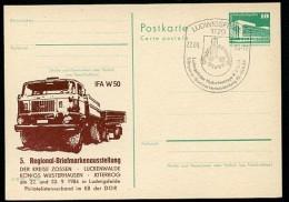 DDR P84-47-84 C94 Postkarte Zudruck LASTKRAFTWAGEN W50 Ludwigsfelde Sost. 1984 - Camions