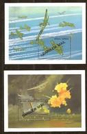 Antigua  Barbuda Mail 1991 Yvertn° Bloc 164-165  *** MNH  Cote 35 Euro Bateaux Avions Boten Vliegtuigen - Antigua Et Barbuda (1981-...)