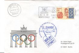 MONACO Olympic Cover With Machine Cancel 101 Session Of The IOC In Monte Carlo - Olympic Games