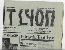 Le TOUT LYON 1924 - Giornali