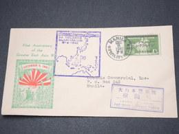 PHILIPPINES - Enveloppe De Manille En 1942 Avec Censure Japonaise, Affranchissement Occupation Japonaise - L 14506 - Philippines