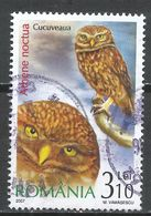 Romania 2007. Scott #4939 (U) Athene Noctua, Little Owl, Bird Of Prey * - Oblitérés