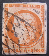 Lot FD/849 - CERES N°5 - GRILLE SANS FIN - Cote : 575,00 € (timbre Réparé) - 1849-1850 Cérès