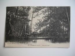 CPA  Bois De La Noé Traversé Par Un Fiacre  1927 - Taxi & Carrozzelle