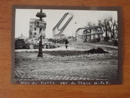 WW2 GUERRE 39 45 LE HAVRE RUE DE PARIS HOTEL DE VILLE  2 VUES VILLE BOMBARDEE BOMBARDEMENT VOIR SCANS - Le Havre
