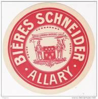 ( Sous Bock ) Ou étiquette Papier BIERES SCHNEIDER  , ALLARY , BRIVE , - Birra
