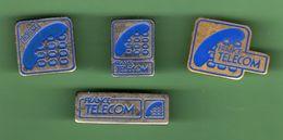 FRANCE TELECOM *** Lot De 4 Pin's Differents *** A033 - France Telecom