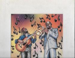 BLUE MUSICIEN Harlem 1990 - Autographes
