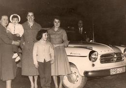Photo Originale Borgward Isabella 1959 Immatriculée ERB-U203 & Sa Famille Au Complet - Cars
