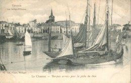 85 - CPA Les Sables D'Olonne - La Chaume - Barques Armées Pour La Pêche Du Thon - Sables D'Olonne