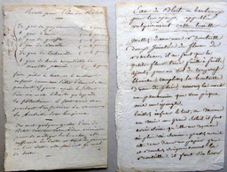 MEDECINE CHARLATAN 4 RECETTES MANUSCRITES 19° CONTRE LES MALADIES EAU DE BLUET COLOGNE CHOLERA ENGELURES - Documents Historiques
