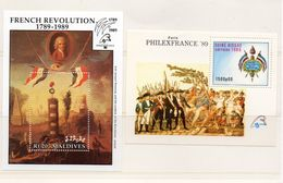 GUINEE BISSAU ET MALDIVES / Révolution Française Superbe 2 Blocs Dentelés + MNH Vente 5.00 Euros - Revolución Francesa