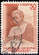 URUGUAY 1948 Unveiling Of Monument To J. E. Rodo (writer) - 50c. Bust Of J. E. Rodo FU - Uruguay