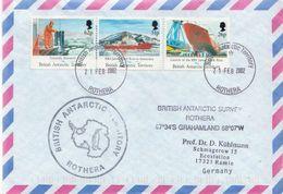 Postal History Cover: British Antarctic Territory Stamps On Cover - British Antarctic Territory  (BAT)