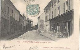 CPA Champs Sur Marne - Rue De Paris - Autres Communes