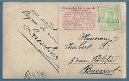 CPA - ROUMANIE - GRIFFE VERESTI EN BLEU - Carte Postale JEUNE FEMME - 1881-1918: Charles I