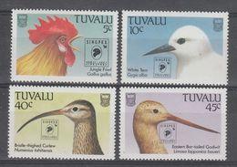 """SERIE NEUVE DE TUVALU - OISEAUX DIVERS (SURCHARGES """"SINGPEX'94"""" N° Y&T 661 A 664 - Collections, Lots & Series"""