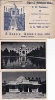 AGRA & FATEHPUR SIKRI. 16 CARDS CITY OF TAJ. PHOTOSET SOUVENIR LAMBRANÇA GRUSS AUS RECUERDO-INDIA-TBE-BLEUP - India