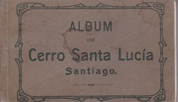 CERRO SANTA LUCIA. Sgo DE CHILE. E.C.EBERHARDT-25CARDS-PHOTOSET SOUVENIR LAMBRANÇA GRUSS AUS RECUERDO-RARISIME-TBE-BLEUP - Chili