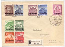 Luxembourg Lettre Recommandée - Occupation