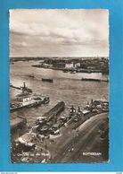 ROTTERDAM GEZICHT OP DE MAAS  BOATS CARTOLINA FORMATO PICCOLO  1959 STORIA POSTALE - Rotterdam