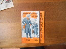 BRUAY EN ARTOIS VÊTEMENTS BRUAY-ELEGANT 9 RUE ALFRED-LEROY DEPLIANT PUBLICITAIRE - Advertising