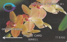 TRINIDAD & TOBAGO(GPT) - Orchid Vanda, CN : 14CTTD(normal 0), Tirage 8800, Used - Trinidad & Tobago