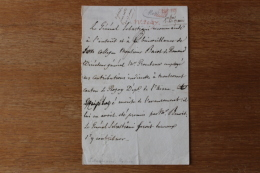 Lettre Du Général   Sebastiani   Comte Et Marechal De France   Corse - Autographs