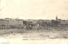 CPA Châtenay Vue Générale Prise De La Gare - Autres Communes
