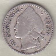 Republique Dominicaine . 10 Centavos 1897 A Paris , Argent, KM# 13 - Dominicana
