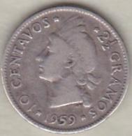 Republique Dominicaine . 10 Centavos 1959 , Argent, KM# 19 - Dominicaine