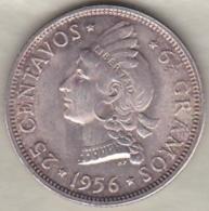 Republique Dominicaine . 25 Centavos 1956 , Argent, KM# 20 . Sup / XF ++ - Dominicana