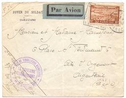 Lettre En FM Regiment De Tirailleur Marocains Affranchie Pour La Sutaxe Aerienne - Briefe U. Dokumente
