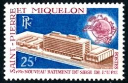 ST-PIERRE ET MIQUELON 1970 - Yv. 399 *   Cote= 16,50 EUR - UPU Union Postale Universelle 25f  ..Réf.SPM11267 - St.Pierre & Miquelon