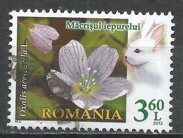 Romania 2012. Scott #5331 (U) Oxalis Acetosella (Flowers), Rabbit - 1948-.... Republics