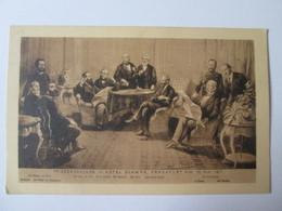 Germany Unused Postcard Friedenschluss In Hotel Schwan,Frankfurt A/M 10 Mai 1871 About 1900-illustrateur Bismarck - Other Illustrators