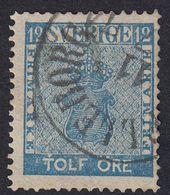 SVEZIA - SVERIGE - 1858 -  Yvert 8 Obiterato. - Schweden