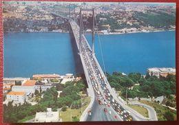 """ISTANBUL - Boğaz Köprüsü - Bosphorus Bridge (""""15 July Martyrs Bridge"""") - Many Cars - Auto Nv - Turchia"""