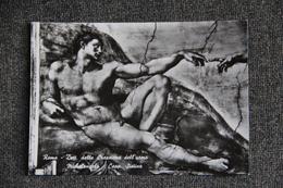 ROMA - Dettalle Della Creazione Dell'uomo - Michelangelo ( Chapelle Sixtine) - San Pietro