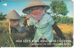VIETNAM(GPT) - Harvest In The Menkong Delta(300000D), CN : 97MVSC,  Tirage 10000, Used - Vietnam