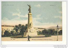 NICE MONUMENT DU CENTENAIRE ET NOUVEAUX JARDINS CPA BON ETAT - Monuments, édifices