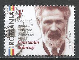 Romania 2016. Scott #5775 (U) Constantin Brâncusi (1876-1957), Sculptor - 1948-.... Républiques