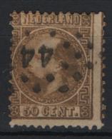 Olanda 1867 Unif. 12 O/Used VF/F - Period 1852-1890 (Willem III)