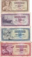 LOTTO 4 BANCONOTE YUGOSLAVIA - Jugoslavia