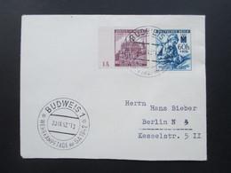 Böhmen Und Mähren MiF Nr. 27 Mit Plattennummer 1A SST Budweis 1 Wehrkampftage Der SA 1942 - Briefe U. Dokumente