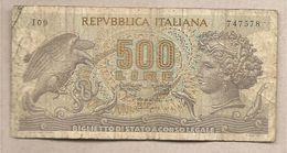 "Italia - Banconota Circolata Da 500 Lie ""Aretusa"" P-93a.1 - 1966 - 500 Lire"