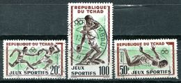 TCHAD - Y&T 80, 81 Et PA8 (Série Complète)(Sports ) - Chad (1960-...)